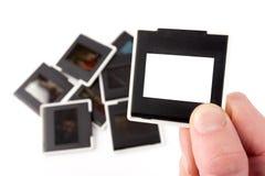 照片框架。 幻灯片35mm。 免版税库存照片