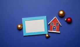 照片框架和圣诞节玩具 库存图片