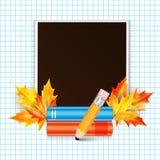 照片框架和学校subjec 图库摄影