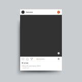 照片框架由朋友互联网分享的instagram启发了 边界月桂树离开橡木丝带模板向量 免版税图库摄影