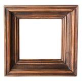 照片框架,空,在白色背景的孤立,特写镜头 库存图片
