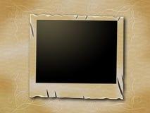照片框架代表老纸并且变老了 免版税库存照片