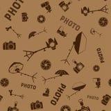 照片演播室用工具加工无缝的样式 免版税图库摄影