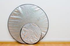 照片演播室银反射器 免版税图库摄影