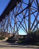 照片点铁路消失乌贼属的口气 库存图片