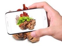 照片烤肉 免版税库存图片