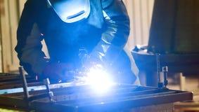 照片焊接过程 库存图片
