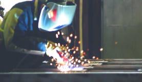 照片焊接过程 免版税库存图片