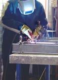 照片焊接过程 库存照片