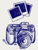 照片照相机例证 库存照片