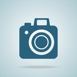照片照相机商标 向量 免版税库存照片