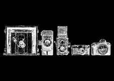 照片照相机演变集合 库存照片