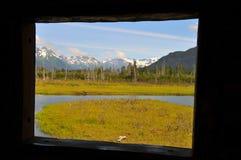 照片理想的视窗-阿拉斯加 库存图片