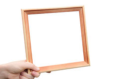 照片的木制框架 库存图片
