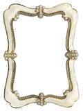 照片的框架与在白色背景隔绝的珍珠 库存照片
