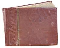 照片的盖子老红色相册 免版税库存图片