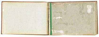 照片的老被染黄的相册 免版税库存照片