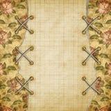 照片的被疏远的册页与被绘的玫瑰 皇族释放例证