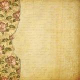照片的被疏远的册页与被绘的玫瑰 库存例证