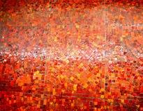 照片背景发光的明亮的红色马赛克 图库摄影