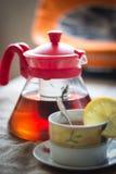 照片茶模糊的视图 免版税库存图片