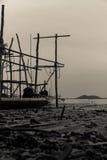 照片被夺取的渔船老颜色 免版税库存照片