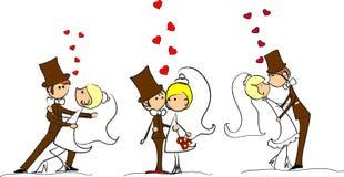 照片被设置的向量婚礼 皇族释放例证