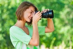 照片配置文件妇女 免版税库存图片