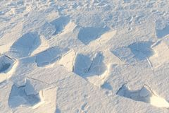 照片雪,特写镜头 免版税库存图片