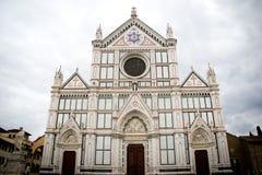 大教堂二Santa Croce在佛罗伦萨, Toscany,意大利 库存图片