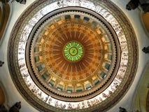 """照片:圆顶的""""Interior,圆形建筑,伊利诺伊状态国会大厦,斯普林菲尔德, Illinois† 免版税库存照片"""