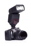 照相机一刹那白色 免版税库存照片