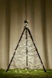 照相机三脚架圣诞树 库存图片