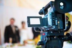 照相机专业人员录影 图库摄影