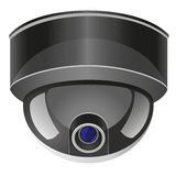 照相机例证监视向量录影 免版税库存图片