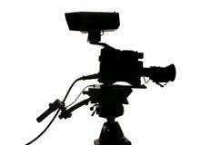照相机剪影工作室录影 免版税库存图片