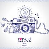 照相机剪影 免版税图库摄影