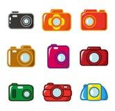 照相机动画片图标 免版税库存照片
