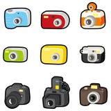 照相机动画片图标 库存例证