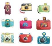 照相机动画片图标 图库摄影