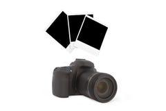 照相机和三foto从他们 免版税库存照片