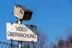 照相机和录影监视标志 库存图片