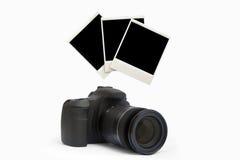 照相机和foto 库存照片