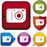 照相机图标系列 库存图片