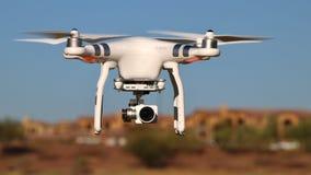 照相机在公园的寄生虫飞行 免版税库存图片