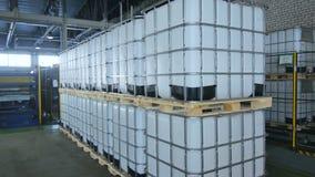 照相机在框架显示完成的中间散装货物集装箱 股票录像