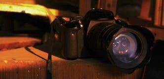 照相机在阳光下 免版税库存照片