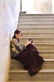 照相机夫人年轻人 库存照片