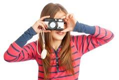 照相机女孩一点 免版税库存图片
