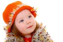 照相机女孩微笑的一点 免版税库存图片